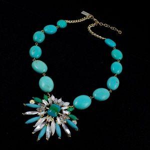 K. Amato Statement Necklace Turquoise Color Stones